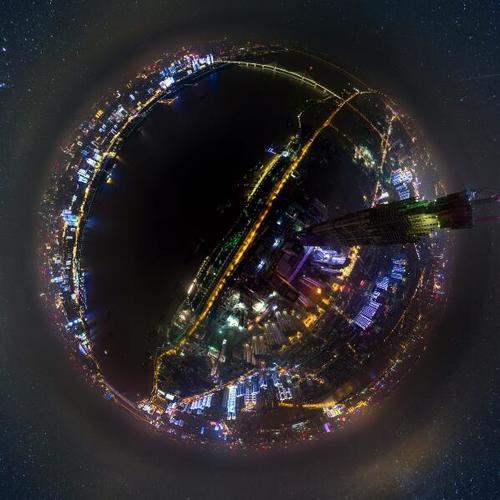 武汉绿地中心(夜景)