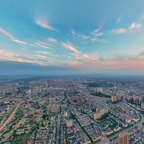 宁乡市全景图