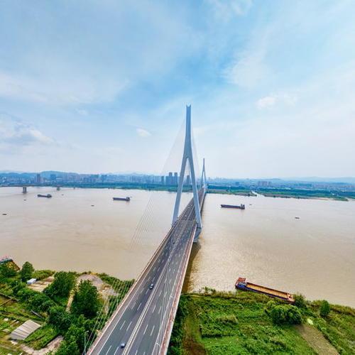 鄂东长江大桥航拍VR全景