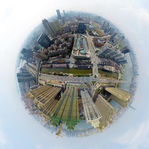 武汉航拍全景图-武汉楚河汉街