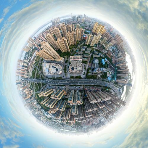 武汉江腾广场航拍全景