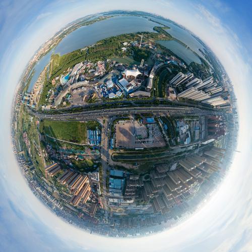 武汉欢乐谷航拍全景