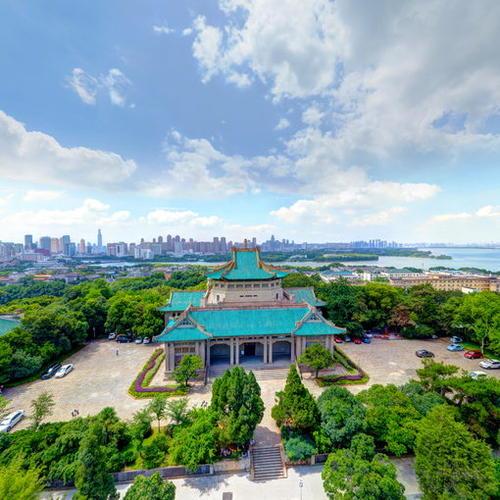 武汉大学校史馆全景航拍