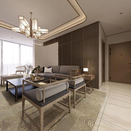 东第华府新中式客厅