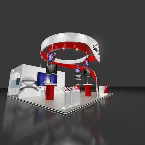 9x9通讯电信展展位设计