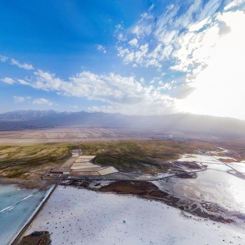 翡翠湖全景航拍