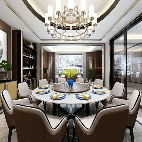 新中式风格餐厨空间,雅致和煦温润