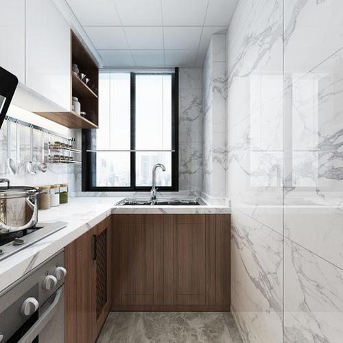 新中式风格餐厨空间,质朴明亮自然
