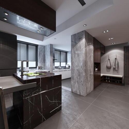 新中式风格餐厨空间,浓郁复古有质感