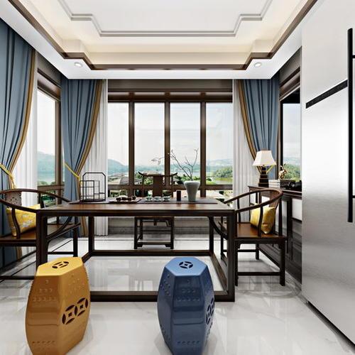 新中式风格餐厨空间,浓郁复古经典
