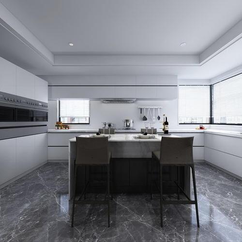 现代风格餐厨空间,大气宽敞通透